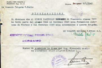 Bernardo Pasinelli di Francesco partigiano Francesco Nullo